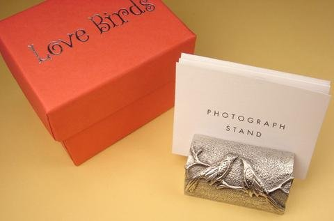 Love Birds Pewter Photo Stand
