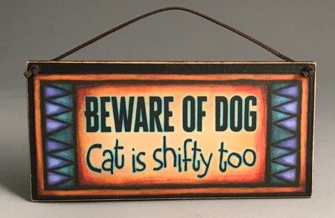 Beware of Dog/Cat Mini Plaque