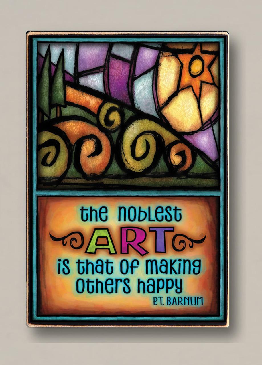 Noblest Art Plaque