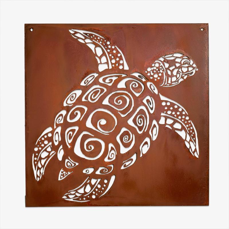 Rusty Sea Turtle Wall Art