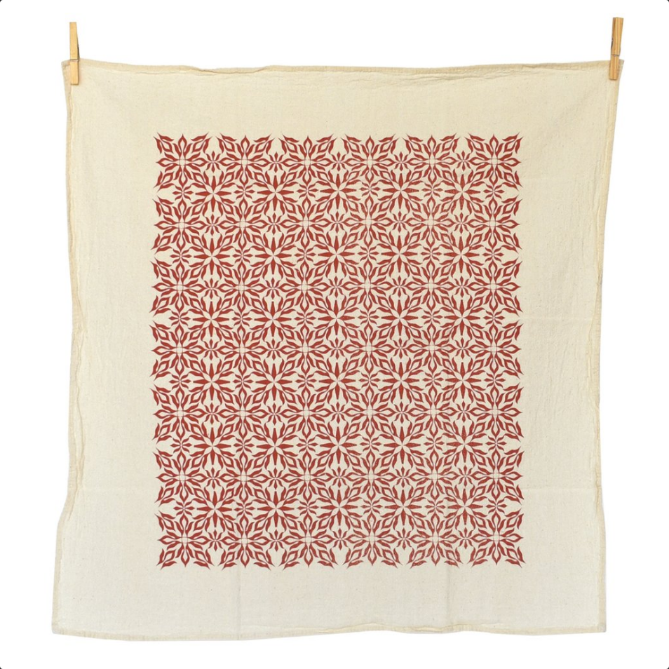 Woodblock Red Nettles Towel