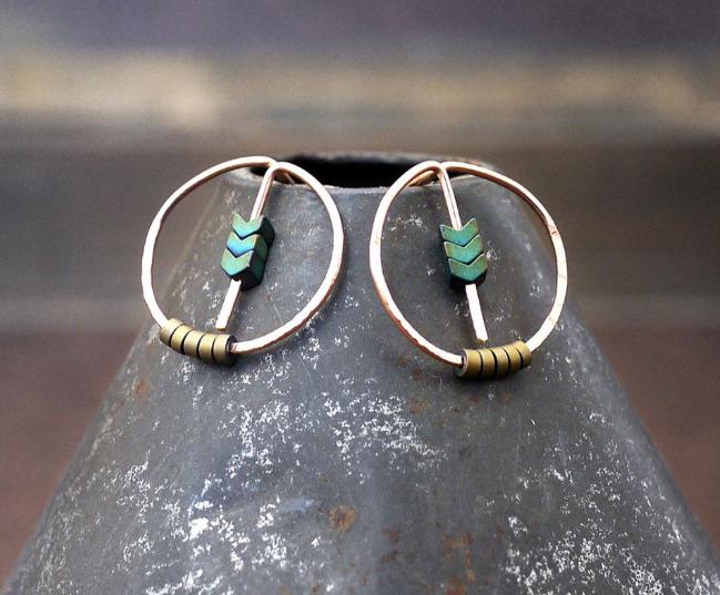 Large Circle YGF Post Earrings