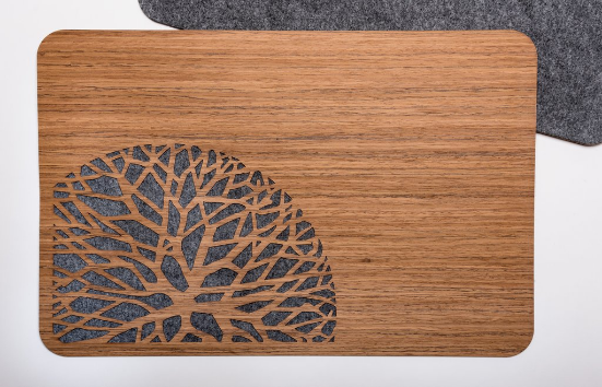 Wood & Felt Trees TableMat