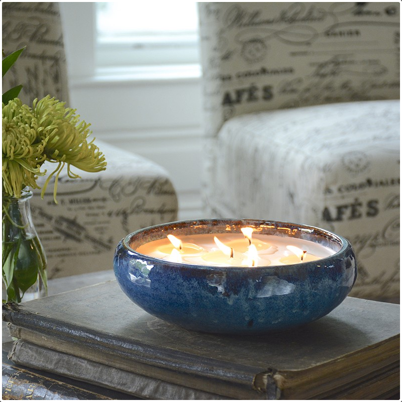 Mission Blue Juniper Cypress 6-Wick Candle