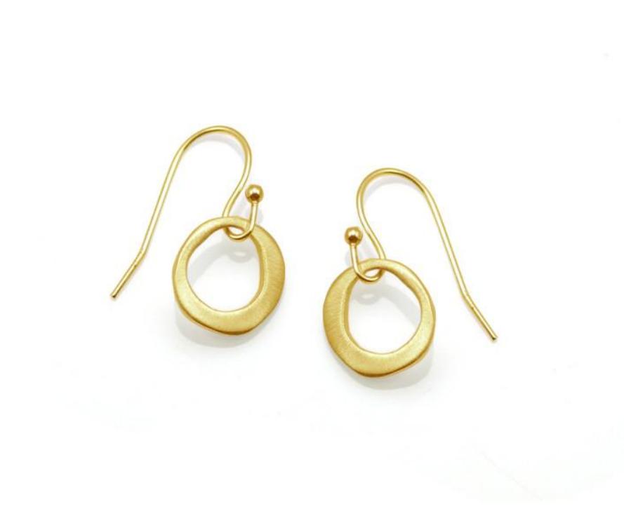 Small Circle Vermeil Earrings
