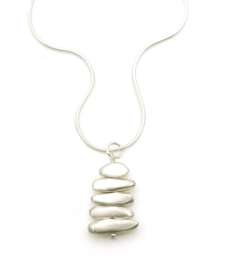 Stacked Pebble Necklace