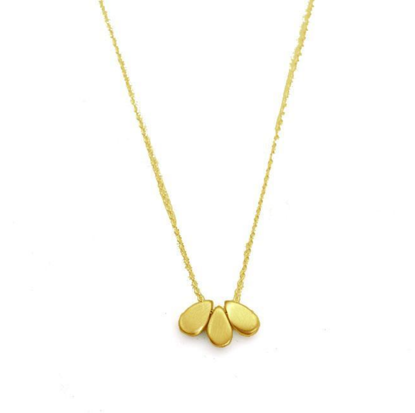 Three Drops Vermeil Necklace