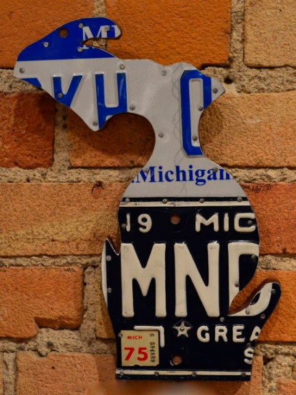 License Plate Michigan - Mini