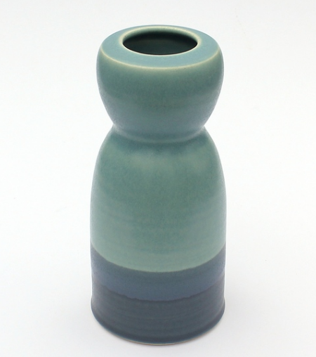 Blue Hourglass Vase