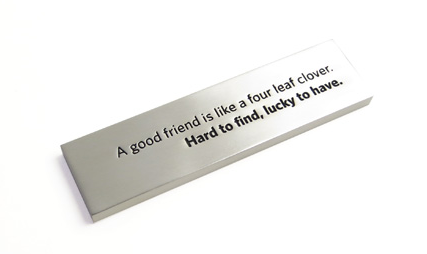 A Good Friend Pewter Paperweight