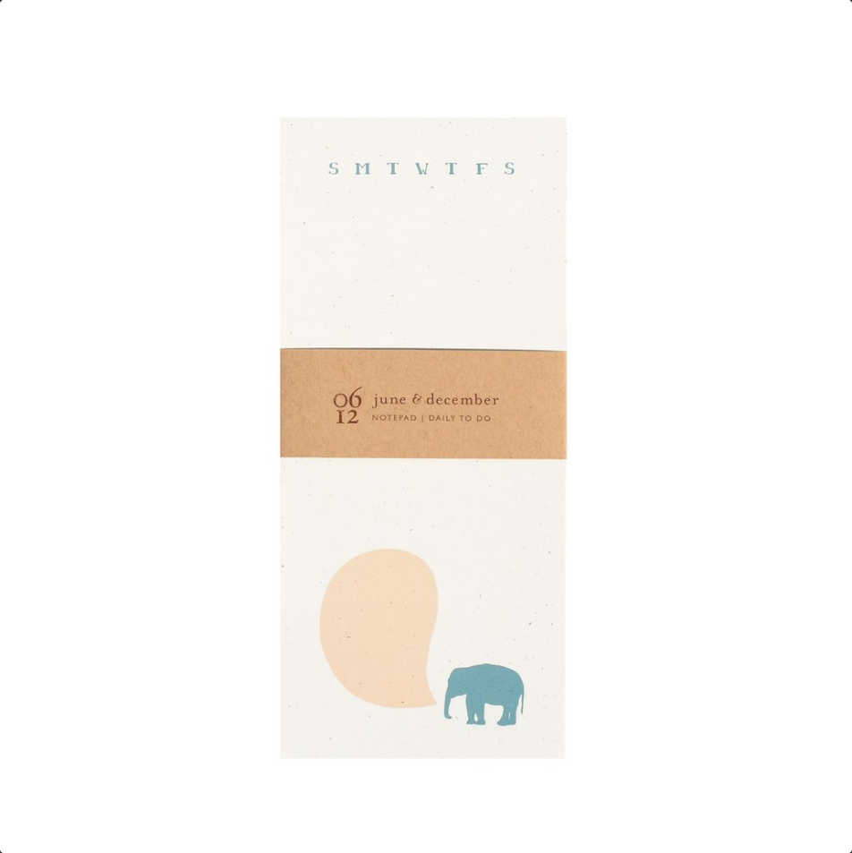 Elephant To-Do Notepad