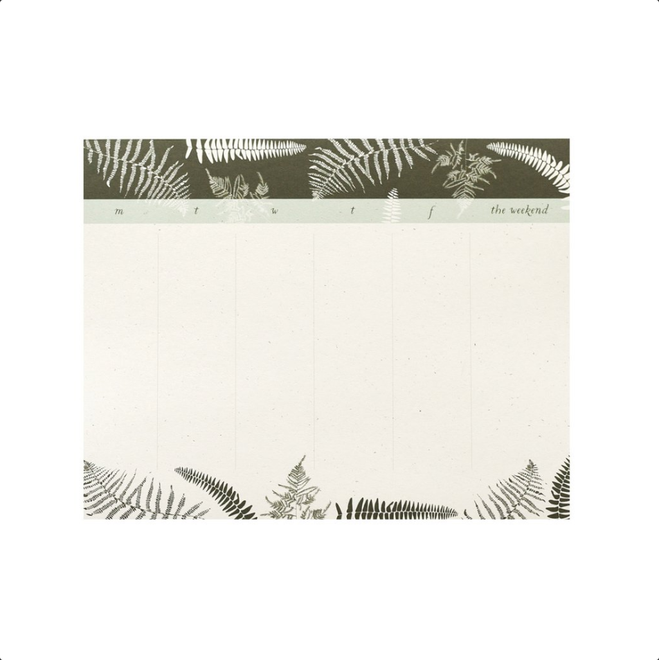 Fronds Weekly To-Do Desk Pad