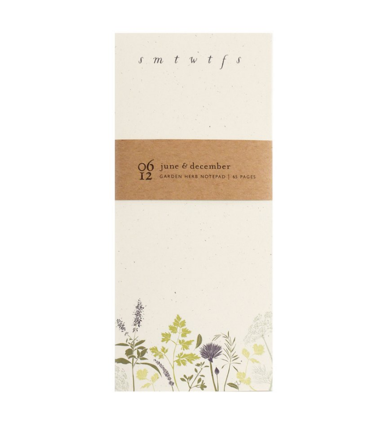 Garden Herb To-Do Notepad