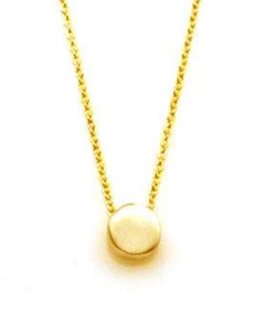Tiny Circle Vermeil Necklace