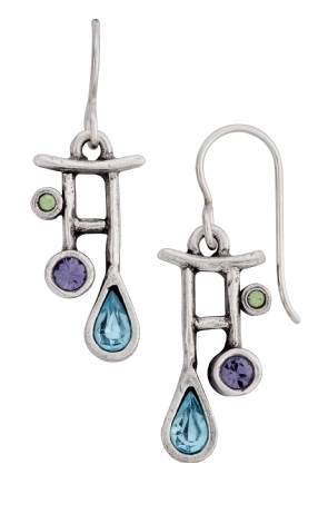 April Showers Earrings in Waterlily