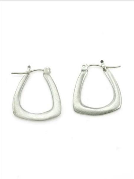 Small Triangle SS Hoop Earrings