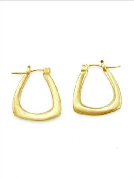 Sml Tri Verm Hoop earrings