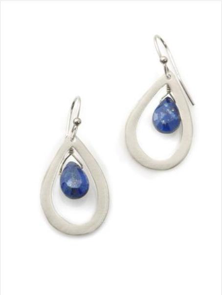 Lapis Sterling Drop Earrings