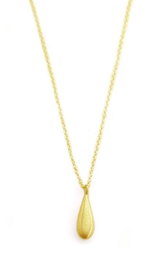 Tiny Drop Vermeil Necklace
