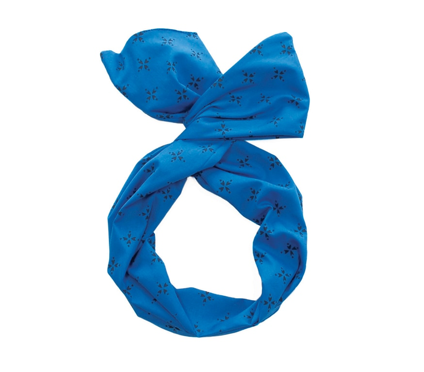 Compass Royal Blue Twist Hair Scarf