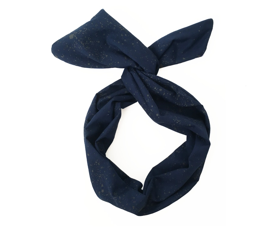 Seaspray Navy Twist Hair Scarf