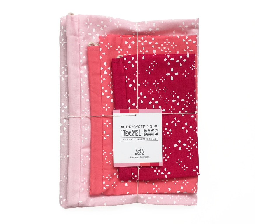 Travel Bag Set Pinks