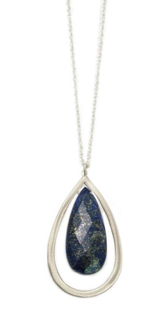 Large Lapis Drop Necklace