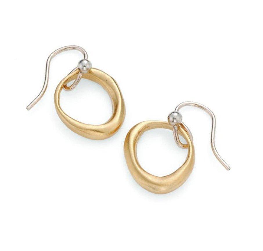 Organic Circle Vermeil Earrings