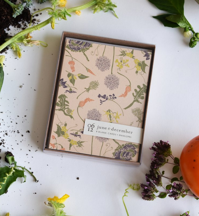 Flowering Veggies Card Set/8