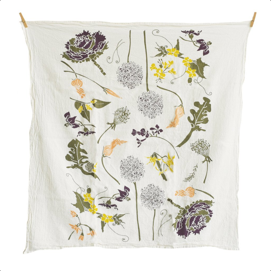 Flowering Veggies Towel