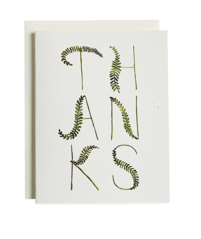 Fronds Thank You Card Set/8