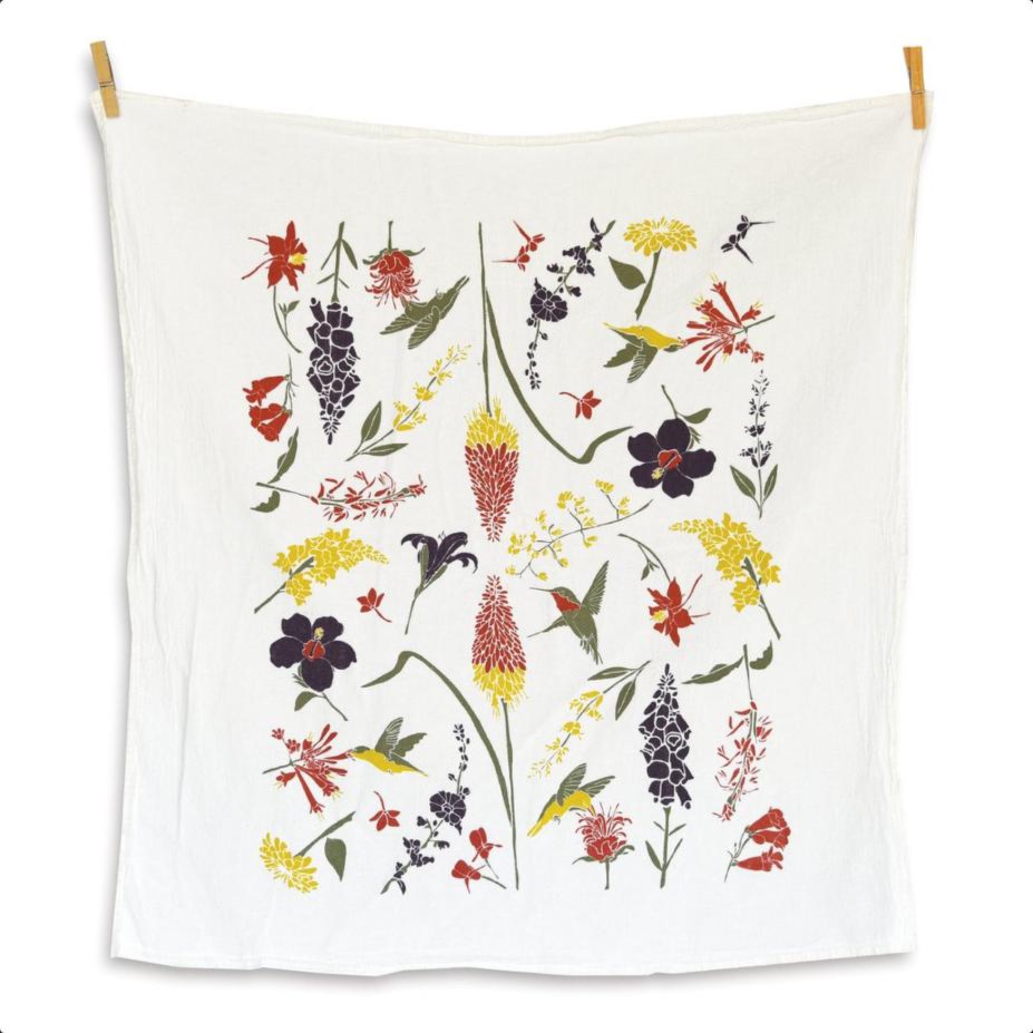 Hummingbird Garden Towel