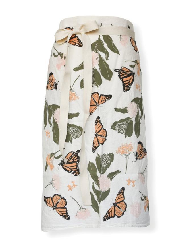 Monarchs & Milkweeds Bistro Apron