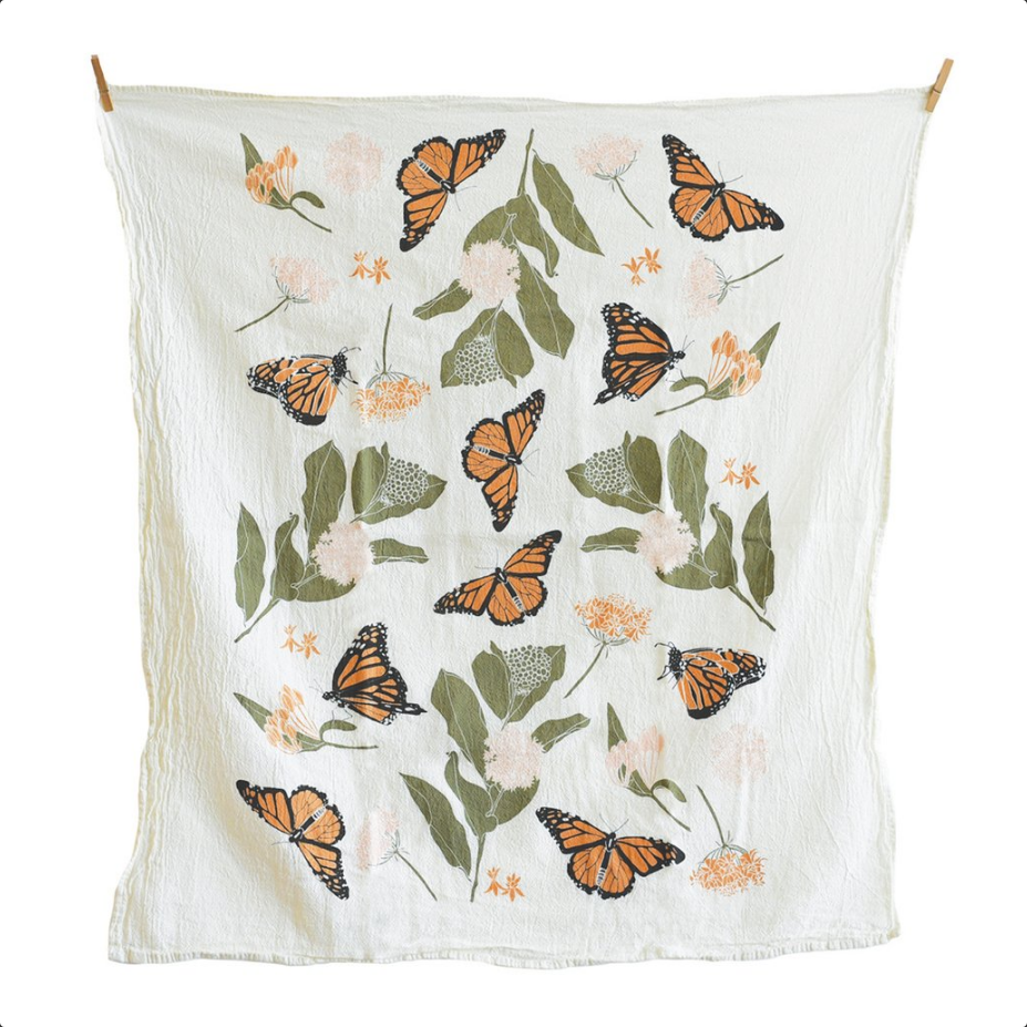 Monarchs & Milkweeds Kitchen Towel
