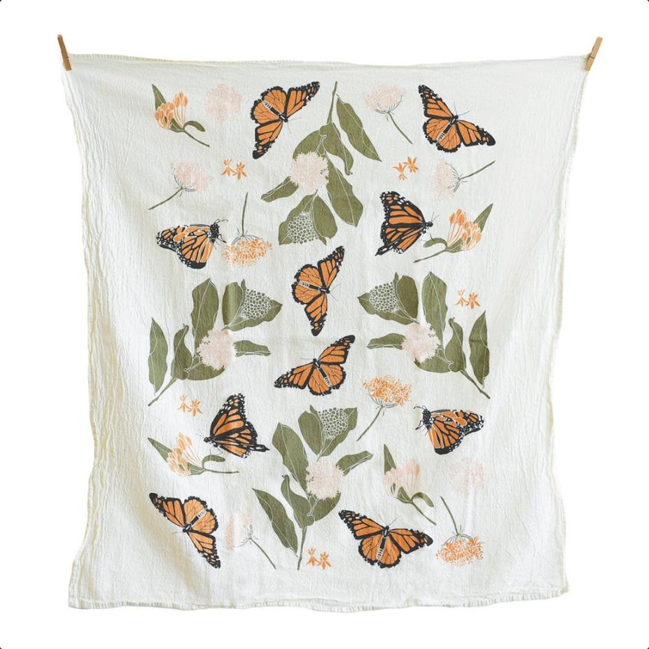 Monarchs & Milkweeds Kitchen Towel