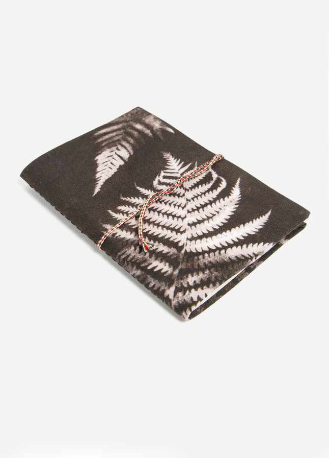 Charcoal Fern Fabric Notebook