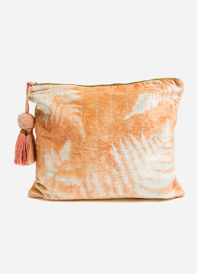 Orange Fern Large Pouch