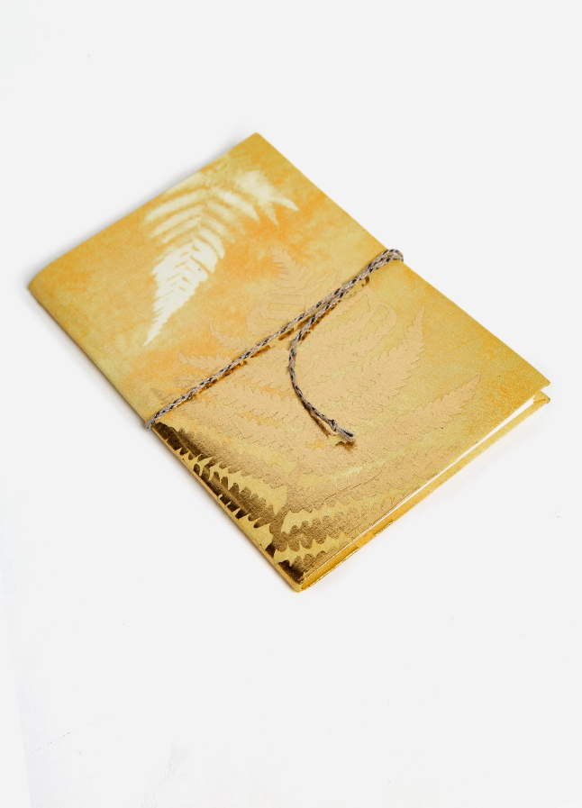 Golden Fern Fabric Notebook