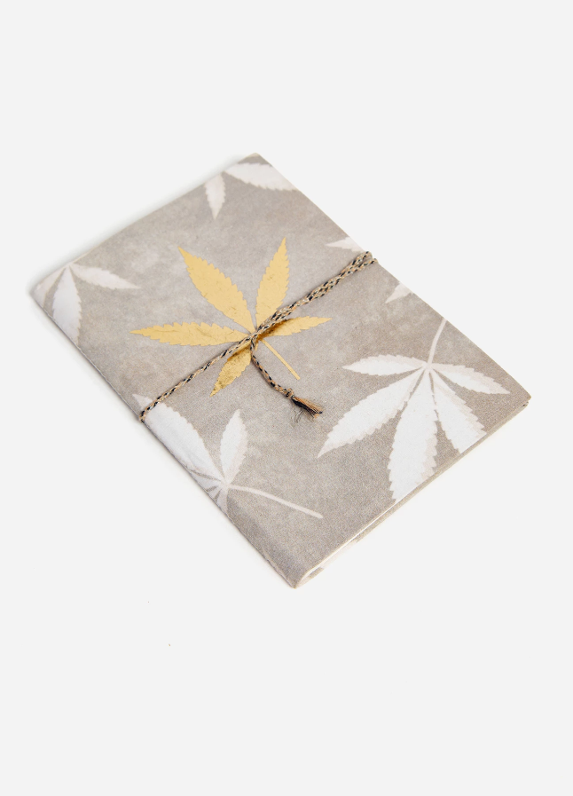 Golden Weed Fabric Notebook