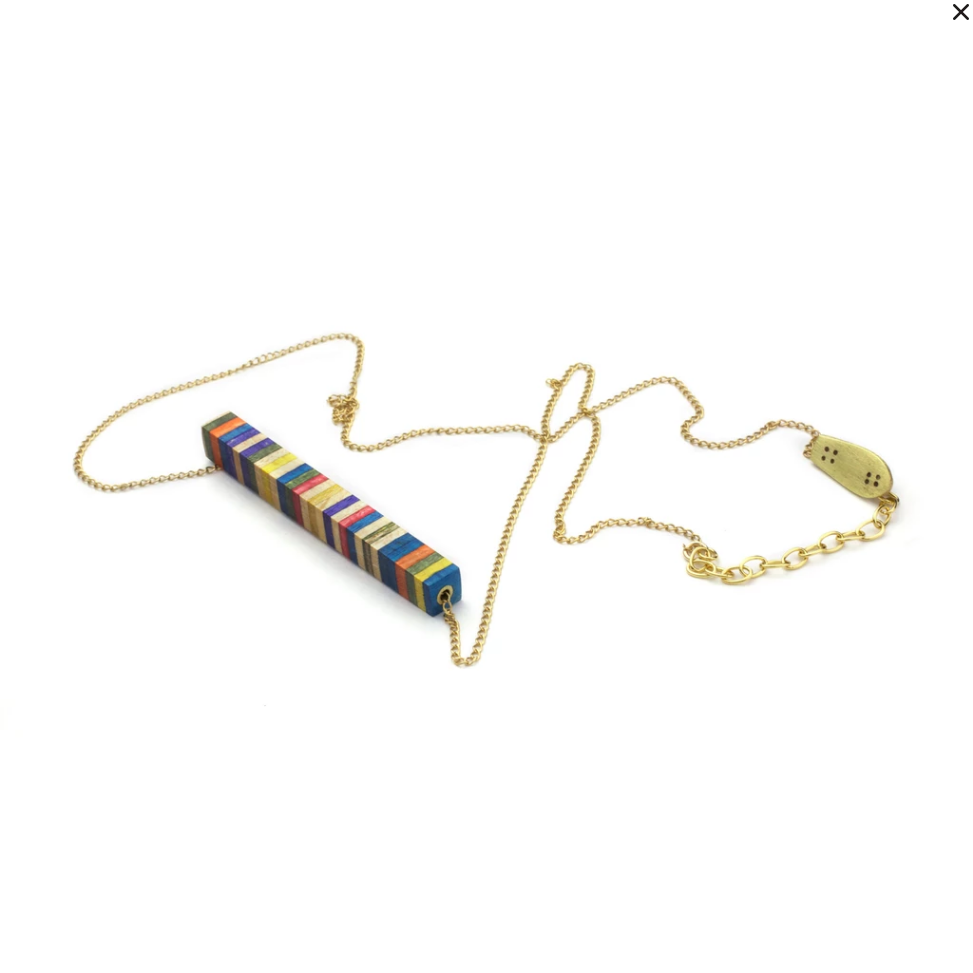 DNA Skateboard Necklace