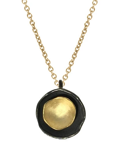 Oyster Pendant in Sterling & Gold Vermeil