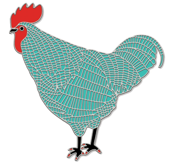 Blue Chicken Enamel Pin