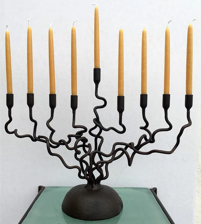 Twisted Vine Menorah
