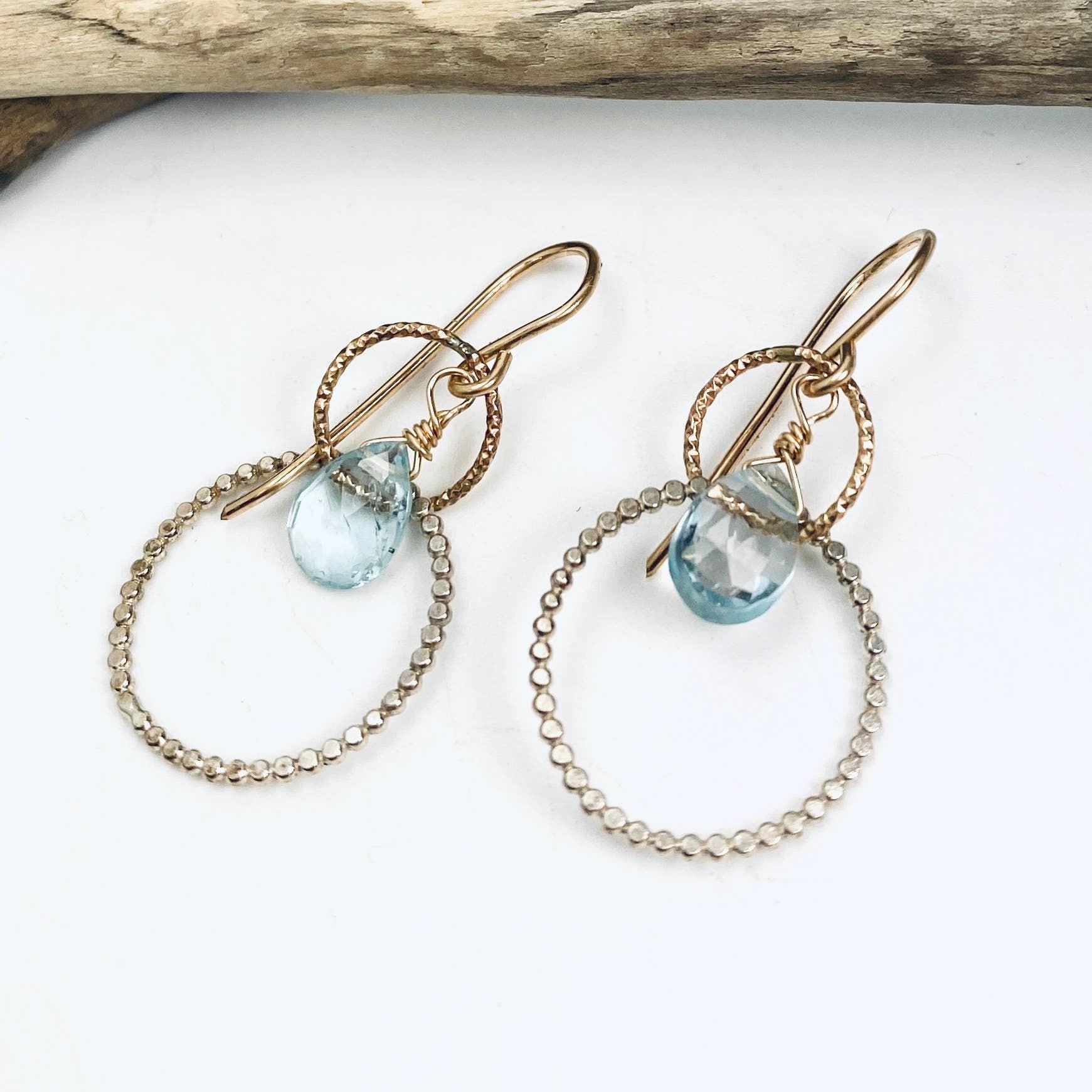 Blue Topaz Serenity Duet Earrings