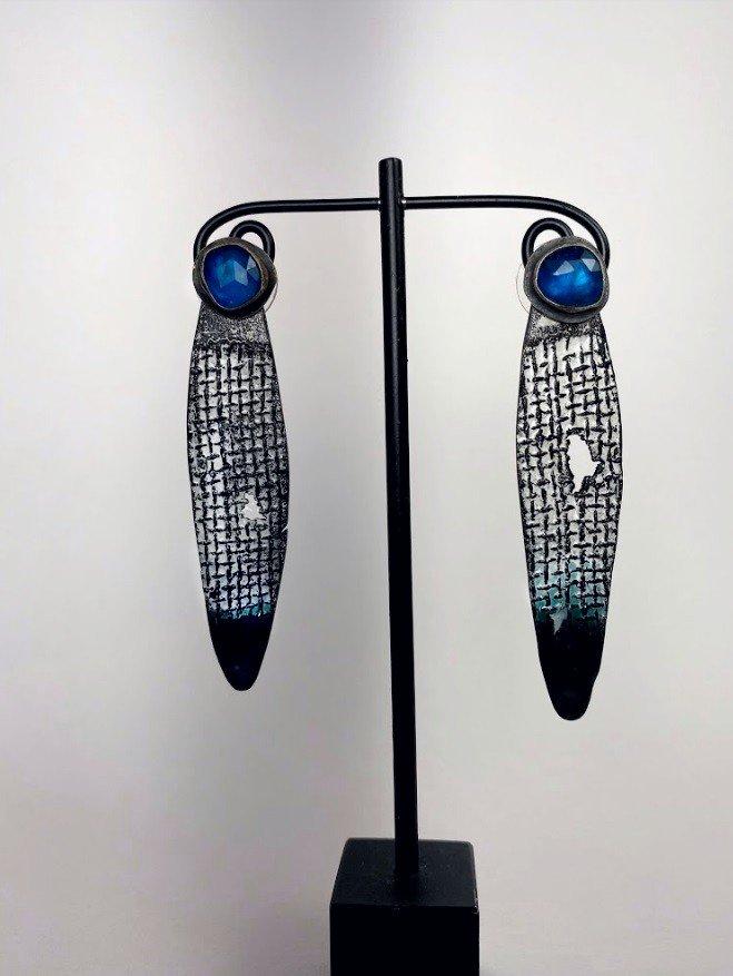 Apatite Enamel Post Earrings