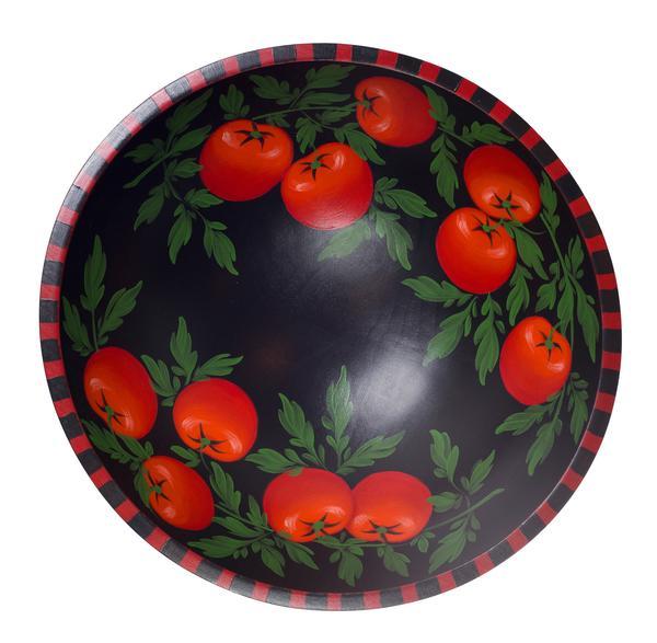 Tomato on Black 18 Bowl