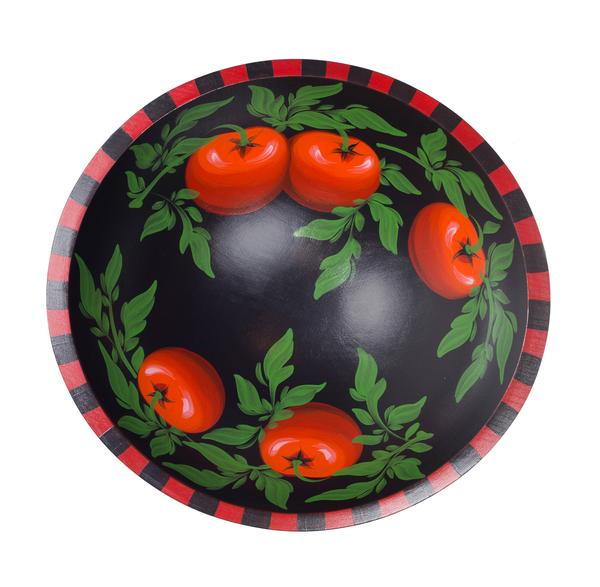 Tomato on Black 18 Bowl