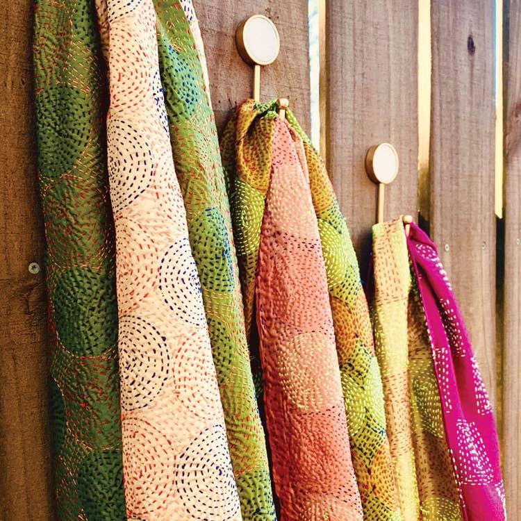 Recycled Silk Kantha Scarf