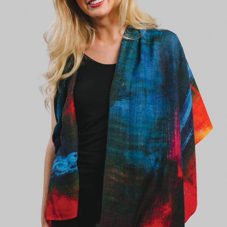 Leela Sunset Wool Shawl