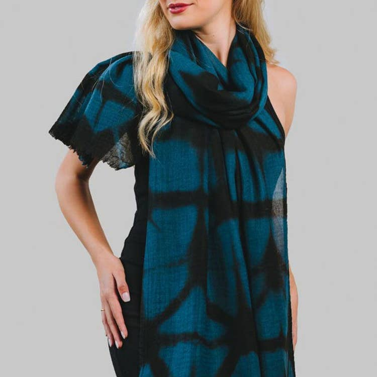 Shibori Wool Shawl